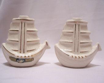 Sailing Ship Salt & Pepper Shakers, Japan