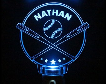 Baseball Night Light Kids Personalized Choose color