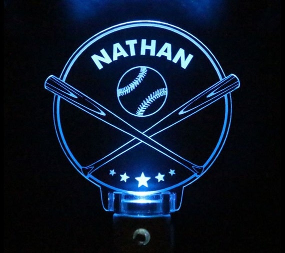 Baseball Night Light Kids Personalized Choose color