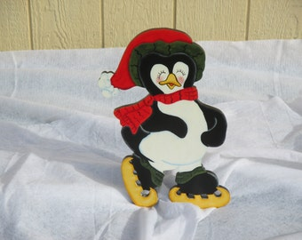 Penguin Skating Yard Sign
