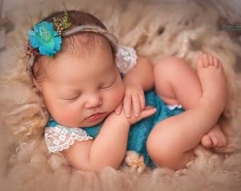 Baby Headband - Turquoise Blue