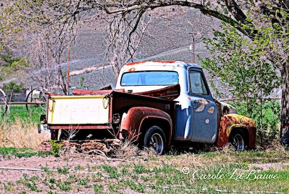 VINTAGE FORD TRUCK on the Utah Plains ~ Junction, Utah ~ Americiana Art ~ Country Rustic Wall Art ~ Travel Photography ~ UT5