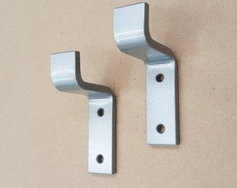 "4"" Light Load Shelf Bracket. Iron Bracket. Hand Forged Metal. Shelf Bracket in Hammered Silver finish**"