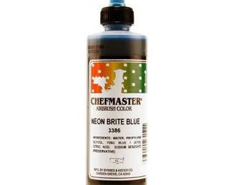 NEON BRIGHT BLUE Chefmaster Airbrush Color