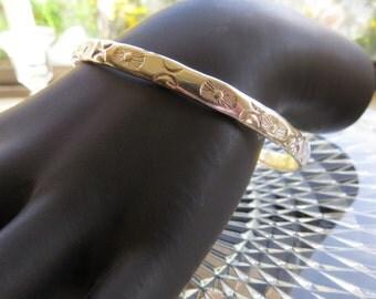 Sterling Silver 925 Vintage Bangle Southwest Bracelet