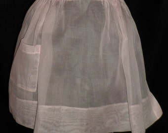 Simply Pretty in Pink Sheer Kitchen Apron