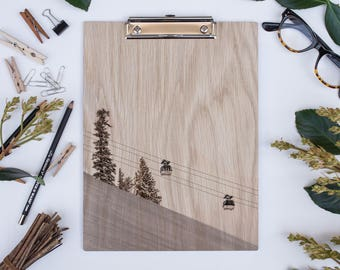Winter Wonderland 1729 Clipboard | Natural White Oak Clipboard