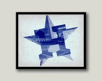 Houston Astros Printable Art, Instant Download