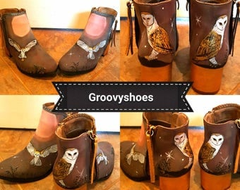 Barn owls boots. Moon light boots Harry potter