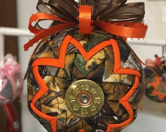 Camouflage shot gun shell ornament