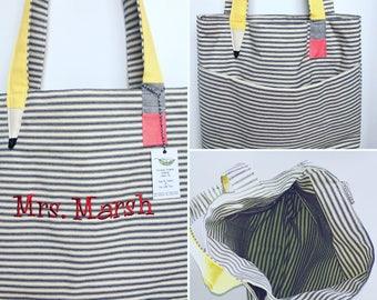 Teacher Tote Bag Personalized, Teacher Gift,Teacher bags, Large Bag, Canvas bag, Large Teacher Tote, Larger Teacher bag, Tickling Tote