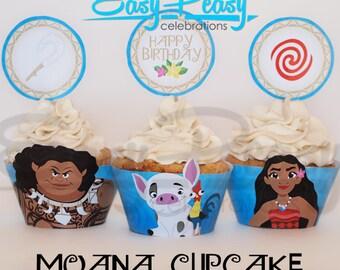Moana (Inspired) Cupcake Set
