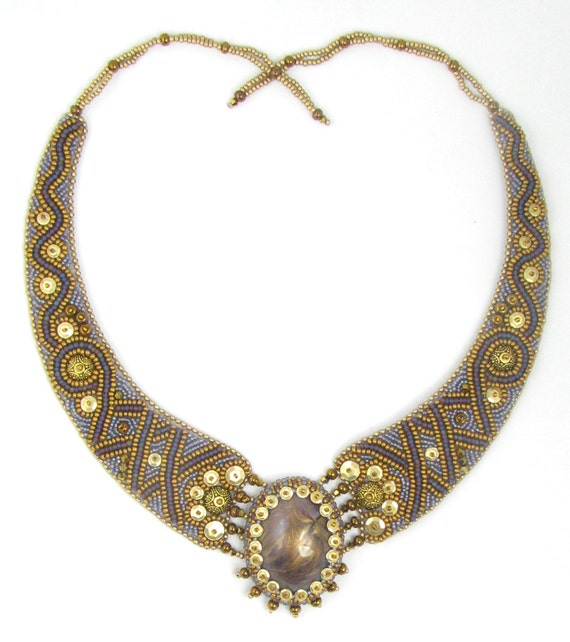 Viking bead embroidery necklace kit by ann benson