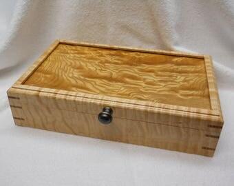 large curly maple treasure box#224