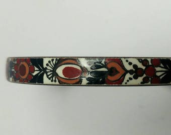 Vintage Austrian enamel bangle