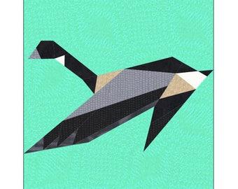 Canada Goose Quilt Block Paper Pieced Pattern
