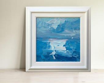 Ocean Painting Oil Painting Original Art Abstract Ocean Art Ocean Canvas Art Sea Painting Blue Painting Ocean Wall Art Abstract Men Gifts