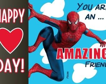 Spiderman Valentine Digital File Print at Home