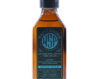 Men's Handcrafted Aftershave Splash (Matterhorn) 100ml Witch Hazel, Aftershave Tonic, Face Astringent