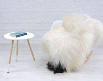 Luxury genuine Icelandic sheepskin rug natural color single 135cm x 90cm, G528