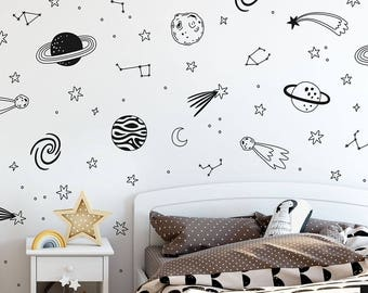 Space Wall Decals   Vinyl Wall Decals, Nursery Decals, Star Decals, Planet  Wall Part 69