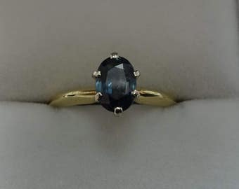 Beautiful Estate Solitaire Sapphire Ring...REDUCED