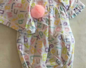 Bitty baby doll sleeper with hat