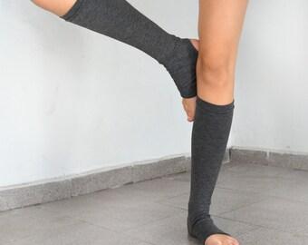 Grey legwarmers / leg warmers/ yoga leg wormers/ sport legwarmers.