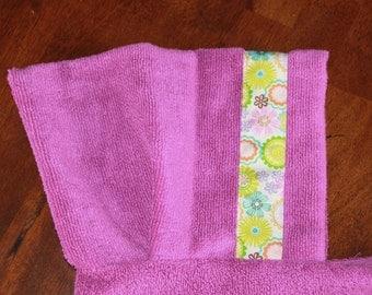 Flower Medallion Hooded Towel, Purple - For babies, toddlers, preschoolers and beyond!