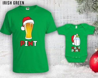 Christmas Pint & Half Pint Matching Christmas Outfits, Baby Bottle Bodysuit, Christmas Jumpers, Father Son Matching Shirts, Gifts CT-803-804