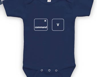 Command Paste - Father Son Matching Shirt, Funny Geek Shirt, Family Matching Shirt, Christmas Gift, Baby Bodysuit CT-349