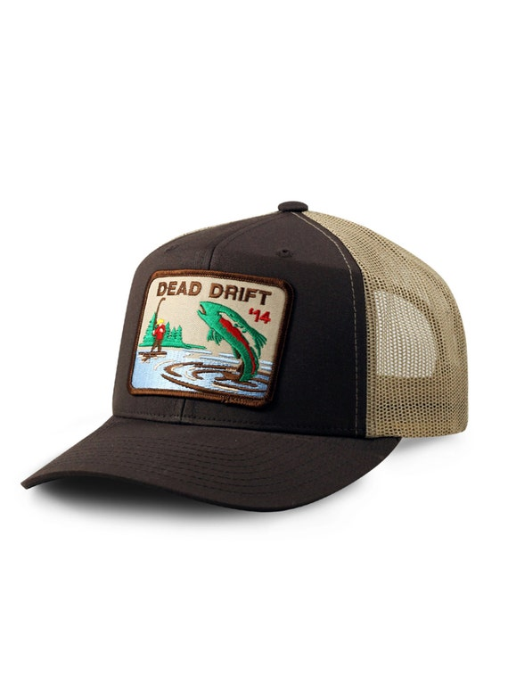 Fly fishing hat bow trucker snapback trout fly fishing for Fishing snapback hats