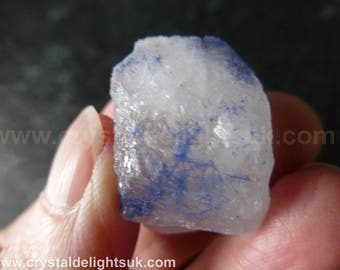 Rare New Dumortierite In Quartz   (8.9  grams / 26 mm) Natural Freeform Piece (18) 'Bahia, Brazil'  - FREE UK POSTAGE