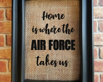 Military Home Decor - Air Force, Army, Navy Marines Decor - Military Family Gift - Deployment Gift - Military Housing - Military Base Decor