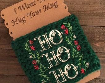 Crochet coffee cozy, christmas coffee mug, holiday coffee cozy, christmas gifts, holiday coffee cozy, coffee mug cozy