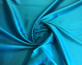 """Two-Tone Twill Fabric, Light Teal and Green, Price is per yard, amazing contrast and quality, 58"""" wide"""