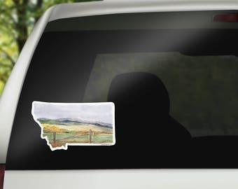Montana Vinyl Sticker - Montana State Decal - Montana Car Decal - Home State Decal - Laptop Sticker - RV Sticker - Montana Art - RV decal