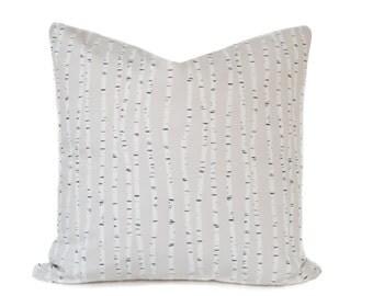 Beige pillow Cover - Birch Tree pillow - Neutral pillow - White pillow - Tree pillow - Modern pillow - Scandinavian pillow