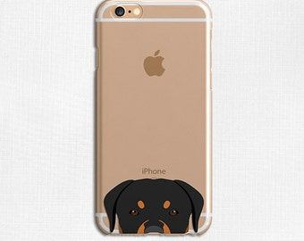 Rottweiler Dog Animal Cute Galaxy S6 Case, Clear Phone Case, Flexible Phone Cover, iPhone 6 Case, Slim Case