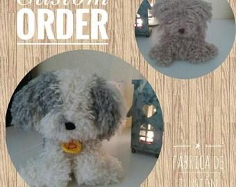 Dog of water, dog amigurumi, dog of plush, dog of water amigurumi, toy of Teddy, spanish water dog, amigurumi dog