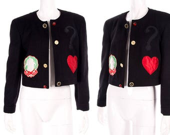 Moschino Vintage 90s Cheap and Chic Applique Jacket
