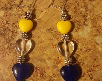 Handmade Heart Beaded Earrings