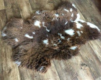 Jacob Sheepskin - Sheep Pelt Hide Fleece - Sheep skin - Thick - Seating Cushion