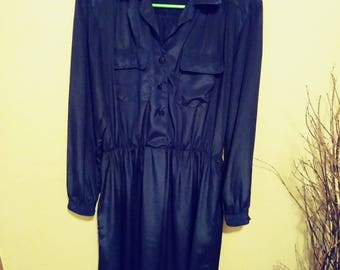 Andrea Gayle Midnigt blue dress size 12