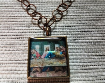 The Last Supper - Metal Resin Pendant Necklace
