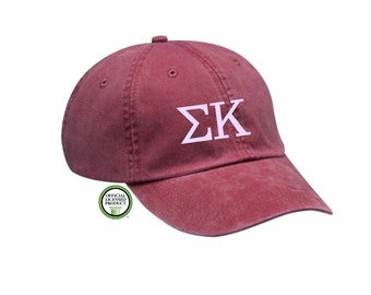 Sigma Kappa Embroidered Hat, Baseball Cap, Sorority Hat, Sorority gift, Big Little Gift, Sigma Kappa Hat, Sigma Kappa Cap, Sigma Kappa Gift