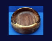English Walnut wood Bowl -   Nice grain pattern and natural edge  - UNIQUE SALE ITEM - wooden bowl