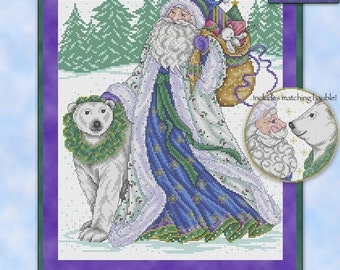 Father Frost Counted Cross Stitch Chart Pattern Joan Elliot Design JE073