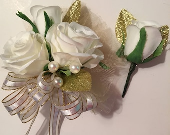 Golden Anniversary Corsage Set, 50th Anniversary