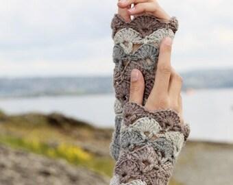 Crochet Lace Fingerless Gloves, Long Lace Gloves, Lace Wrist Warmers, Crochet Lace Warmers, Crochet Arm Warmers, Steampunk Wrist Cuffs Lace